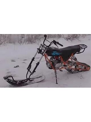 Мотоцикл внедорожный СКАУТ-3-125 с установленным зимним комплектом