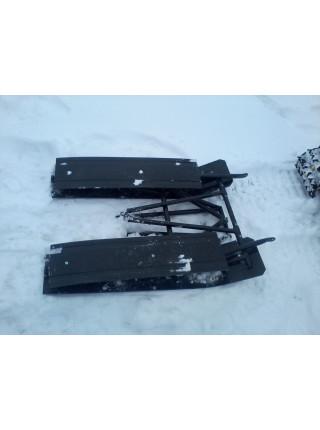 Складные сани-волокуши для снегоходной приставки (двухместные)