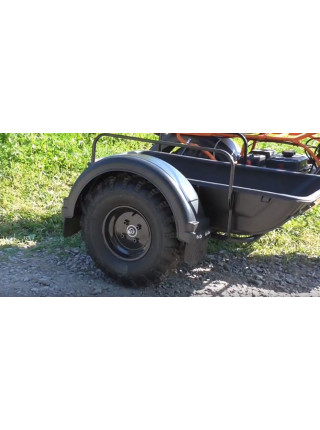 Мотоцикл СКАУТ-2-8Е с боковым прицепом без корыта