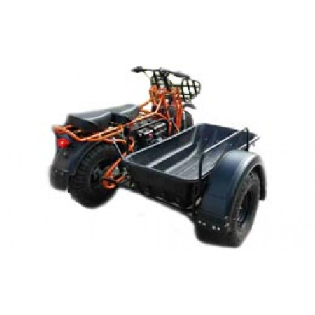 Мотоцикл внедорожный СКАУТ-2-8Е с боковым прицепом и кузовом