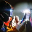 Маска сварщика Хамелеон Aurora SUN7 c увеличенным светофильтром