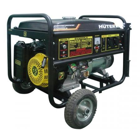 Трехфазный бензиновый генератор Huter DY8000LX