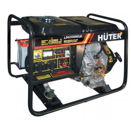 Портативный дизельный генератор Huter LDG5000CLE